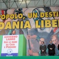 Foto Nicoloro G. 22/01/2012 Milano Manifestazione con corteo della Lega Nord contro il governo Monti. nella foto Luca Zaia