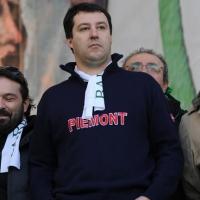 Foto Nicoloro G. 22/01/2012 Milano Manifestazione con corteo della Lega Nord contro il governo Monti. nella foto Matteo Salvini