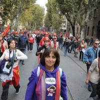 Foto Nicoloro G.  16/10/2010 Roma  Manifestazione nazionale Fiom-CGIL con cortei e comizio finale in piazza San Giovanni. nella foto Manifestanti in corteo