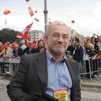 Foto Nicoloro G.  16/10/2010 Roma  Manifestazione nazionale Fiom-CGIL con cortei e comizio finale in piazza San Giovanni. nella foto Franco Giordano