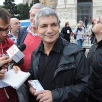 Foto Nicoloro G.  16/10/2010 Roma  Manifestazione nazionale Fiom-CGIL con cortei e comizio finale in piazza San Giovanni. nella foto Nichi Vendola