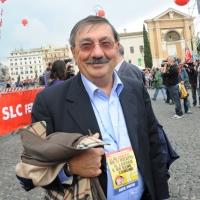 Foto Nicoloro G.  16/10/2010 Roma  Manifestazione nazionale Fiom-CGIL con cortei e comizio finale in piazza San Giovanni. nella foto Fabio Mussi