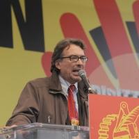 Foto Nicoloro G.  16/10/2010 Roma  Manifestazione nazionale Fiom-CGIL con cortei e comizio finale in piazza San Giovanni. nella foto Giorgio Cremaschi