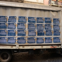 """Foto Nicoloro G. 12/10/2013 Roma Manifestazione nazionale in difesa della Costituzione, """" La via maestra """", organizzata dalla FIOM. nella foto Cartelli"""