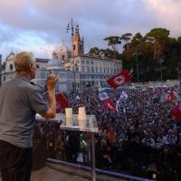 """Foto Nicoloro G. 12/10/2013 Roma Manifestazione nazionale in difesa della Costituzione, """" La via maestra """", organizzata dalla FIOM. nella foto Stefano Rodotà"""