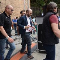 """Foto Nicoloro G. 02/06/2013 Bologna Manifestazione in difesa della Costituzione organizzata da """" Libertà e Giustizia """" dal titolo """" Non è cosa vostra """". nella foto Roberto Saviano"""