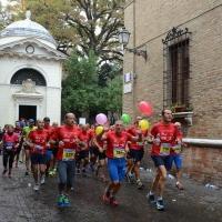 """Foto Nicoloro G.   09/11/2014   Ravenna    Sedicesima edizione della """" Maratona Internazionale Ravenna Città d Arte """". nella foto un momento della corsa."""
