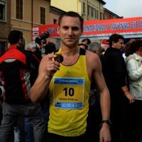 """Foto Nicoloro G.   09/11/2014   Ravenna    Sedicesima edizione della """" Maratona Internazionale Ravenna Città d Arte """". nella foto il vincitore il russo Mikhail Bykov."""