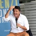 Foto Nicoloro G.   27/09/2021   Ravenna   Il leader di Italia Viva e' in citta' per presentare il suo libro e sostenere la lista Ravenna in Campo, che a lui fa riferimento e che appoggia l' elezione a sindaco del candidato del Centrosinistra. nella foto il leader di Italia Viva Matteo Renzi.