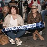 Foto Nicoloro G.   24/09/2021   Ravenna   Intervento del leader della Lega nella campagna elettorale per le amministrative del 3 e 4 ottobre 2021. nella foto due simpatizzanti.