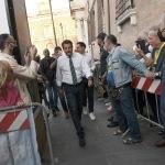 Foto Nicoloro G.   24/09/2021   Ravenna   Intervento del leader della Lega nella campagna elettorale per le amministrative del 3 e 4 ottobre 2021. nella foto Matteo Salvini al suo arrivo nella piazza del comizio.