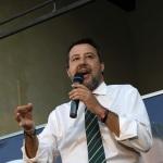Foto Nicoloro G.   24/09/2021   Ravenna   Intervento del leader della Lega nella campagna elettorale per le amministrative del 3 e 4 ottobre 2021. nella foto il segretario della Lega Matteo Salvini.