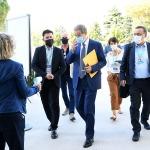 Foto Nicoloro G.   21/08/2020   Rimini    Quarta giornata del Meeting di CL 2020, che in questa edizione ha per titolo ' Privi di meraviglia, restiamo sordi al sublime '. nella foto il governatore della Sicilia Nello Musumeci al suo arrivo al Meeting.