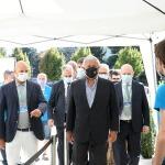 Foto Nicoloro G.   21/08/2020   Rimini    Quarta giornata del Meeting di CL 2020, che in questa edizione ha per titolo ' Privi di meraviglia, restiamo sordi al sublime '. nella foto il vicepresidente di Forza Italia Antonio Tajani arriva al Meeting.