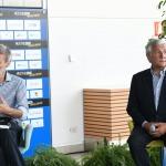 Foto Nicoloro G.   21/08/2020   Rimini    Quarta giornata del Meeting di CL 2020, che in questa edizione ha per titolo ' Privi di meraviglia, restiamo sordi al sublime '. nella foto a sinistra Graziano Delrio, capogruppo PD alla Camera e Antonio Tajani, vicepresidente Forza Italia.
