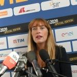 Foto Nicoloro G.   21/08/2020   Rimini    Quarta giornata del Meeting di CL 2020, che in questa edizione ha per titolo ' Privi di meraviglia, restiamo sordi al sublime '. nella foto la capogruppo di Italia Viva alla Camera Maria Elena Boschi.