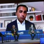 Foto Nicoloro G.   21/08/2020   Rimini    Quarta giornata del Meeting di CL 2020, che in questa edizione ha per titolo ' Privi di meraviglia, restiamo sordi al sublime '. nella foto il ministro Luigi Di Maio in collegamento Video