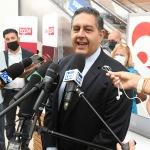 Foto Nicoloro G.   22/08/2020   Rimini    Quinta giornata del Meeting di CL 2020, che in questa edizione ha per titolo ' Privi di meraviglia, restiamo sordi al sublime '. nella foto il governatore della Liguria Giovanni Toti.