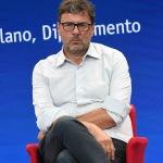 Foto Nicoloro G.   20/08/2020   Rimini  Terza giornata del Meeting di CL 2020, che in questa edizione ha per titolo ' Privi di meraviglia, restiamo sordi al sublime '. nella foto il vicesegretario federale Lega Giancarlo Giorgetti.