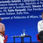 20/08/2020   Rimini  Terza giornata del Meeting di CL 2020, che in questa edizione ha per titolo ' Privi di meraviglia, restiamo sordi al sublime '. nella foto Mariastella Gelmini, capogruppo Forza Italia alla Camera, e Gianfranco Giorgetti, vicesegretario federale Lega.