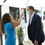 Foto Nicoloro G.   20/08/2020   Rimini  Terza giornata del Meeting di CL 2020, che in questa edizione ha per titolo ' Privi di meraviglia, restiamo sordi al sublime '. nella foto Luigi Gubitosi, a.d. Telecom, alla prova del termoscanner