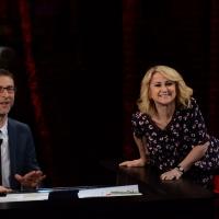 """Foto Nicoloro G. 16/03/2014  Milano   Trasmissione televisiva su Rai 3  """"Che tempo che fa"""". nella foto Fabio Fazio e Luciana Littizzetto."""