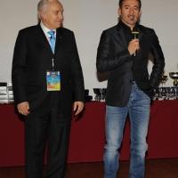"""Foto Nicoloro G. 05/12/2012 Milano Trentesima edizione del """" Festival Ficts """" , Federazione Internazionale Cinema e Televisione Sportiva. nella foto Franco Ascani – Max Biaggi"""