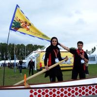 Foto Nicoloro G.  02/09/2014   Ravenna   Nona edizione dell' IDBF,  Campionati Mondiali per club di di Dragon Boat. Partecipano 27 nazioni, 5300 atleti, 129 club che gareggeranno nelle tre categorie Open maschili, femminili e misti. nella foto dagli Emirati Arabi.