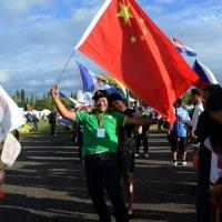 Foto Nicoloro G.  02/09/2014   Ravenna   Nona edizione dell' IDBF,  Campionati Mondiali per club di di Dragon Boat. Partecipano 27 nazioni, 5300 atleti, 129 club che gareggeranno nelle tre categorie Open maschili, femminili e misti. nella foto dalla Cina.