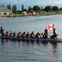 Foto Nicoloro G.  02/09/2014   Ravenna   Nona edizione dell' IDBF,  Campionati Mondiali per club di di Dragon Boat. Partecipano 27 nazioni, 5300 atleti, 129 club che gareggeranno nelle tre categorie Open maschili, femminili e misti. nella foto un equipaggio del Canada.