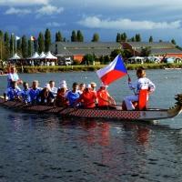 Foto Nicoloro G.  02/09/2014   Ravenna   Nona edizione dell' IDBF,  Campionati Mondiali per club di di Dragon Boat. Partecipano 27 nazioni, 5300 atleti, 129 club che gareggeranno nelle tre categorie Open maschili, femminili e misti. nella foto un equipaggio della Repubblica Ceca.