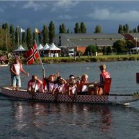 Foto Nicoloro G.  02/09/2014   Ravenna   Nona edizione dell' IDBF,  Campionati Mondiali per club di di Dragon Boat. Partecipano 27 nazioni, 5300 atleti, 129 club che gareggeranno nelle tre categorie Open maschili, femminili e misti. nella foto l' equipaggio della Norvegia.