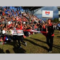 Foto Nicoloro G.  02/09/2014   Ravenna   Nona edizione dell' IDBF,  Campionati Mondiali per club di di Dragon Boat. Partecipano 27 nazioni, 5300 atleti, 129 club che gareggeranno nelle tre categorie Open maschili, femminili e misti. nella foto la delegazione del Canada.