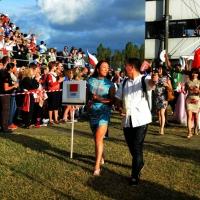 Foto Nicoloro G.  02/09/2014   Ravenna   Nona edizione dell' IDBF,  Campionati Mondiali per club di di Dragon Boat. Partecipano 27 nazioni, 5300 atleti, 129 club che gareggeranno nelle tre categorie Open maschili, femminili e misti. nella foto la delegazione della Cina.