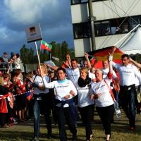 Foto Nicoloro G.  02/09/2014   Ravenna   Nona edizione dell' IDBF,  Campionati Mondiali per club di di Dragon Boat. Partecipano 27 nazioni, 5300 atleti, 129 club che gareggeranno nelle tre categorie Open maschili, femminili e misti. nella foto la delegazione della Germania.