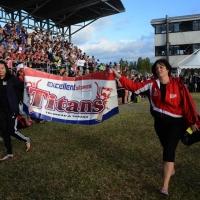 Foto Nicoloro G.  02/09/2014   Ravenna   Nona edizione dell' IDBF,  Campionati Mondiali per club di di Dragon Boat. Partecipano 27 nazioni, 5300 atleti, 129 club che gareggeranno nelle tre categorie Open maschili, femminili e misti. nella foto la delegazione di Trinidad e Tobago.