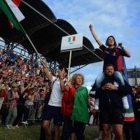 Foto Nicoloro G.  02/09/2014   Ravenna   Nona edizione dell' IDBF,  Campionati Mondiali per club di di Dragon Boat. Partecipano 27 nazioni, 5300 atleti, 129 club che gareggeranno nelle tre categorie Open maschili, femminili e misti. nella foto la delegazione dell' Italia.