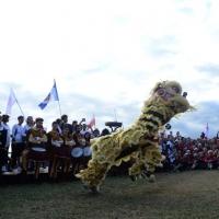 Foto Nicoloro G.  02/09/2014   Ravenna   Nona edizione dell' IDBF,  Campionati Mondiali per club di di Dragon Boat. Partecipano 27 nazioni, 5300 atleti, 129 club che gareggeranno nelle tre categorie Open maschili, femminili e misti. nella foto la tradizionale Danza del Leone.