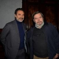 """Foto Nicoloro G. 27/01/2014   Milano  17° edizione del premio """" L' Altropallone """". nella foto da sinistra Cesare Prandelli con il giornalista Gianni Mura."""