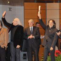 Foto Nicoloro G. 07/12/2011 Milano Tradizionale consegna degli Ambrogini d' oro, massima onorificenza cittadina. nella foto La PFM – Giuliano Pisapia – Basilio Rizzo