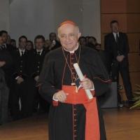 Foto Nicoloro G. 07/12/2011 Milano Tradizionale consegna degli Ambrogini d' oro, massima onorificenza cittadina. nella foto Il cardinale Dionigi Tettamanzi Arcivescovo di Milano