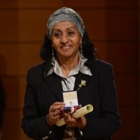 Foto Nicoloro G.  07/12/2013  Milano  Assegnati gli Ambrogini d' oro e le Menzioni speciali ai cittadini che più si sono distinti nelle rispettive attività. nella foto la presidente dell' Ong Gandhi Alganesh Fessaha.