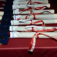 Foto Nicoloro G. 07/12/2015 Milano Edizione 2015 della tradizionale cerimonia di consegna degli Ambrogini da parte del Comune di Milano. nella foto le medaglie d' oro e i certificati di benemerenza.