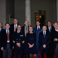 Foto Nicoloro G. 29/11/2015 Ravenna 44° edizione del Premio Guidarello per il Giornalismo d' Autore organizzato da Confindustria Ravenna. nella foto il gruppo con i vincitori.