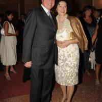 """Foto Nicoloro G.   04/09/2010  Venezia  Quarantottesima edizione del """" Premio Campiello Letteratura """". nella foto Ennio Doris con la moglie"""