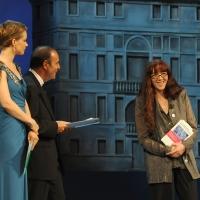 """Foto Nicoloro G.   04/09/2010  Venezia  Quarantottesima edizione del """" Premio Campiello Letteratura """". nella foto Andrea Osvart – Bruno Vespa – Laura Pariani"""