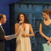 """Foto Nicoloro G.   04/09/2010  Venezia  Quarantottesima edizione del """" Premio Campiello Letteratura """". nella foto Bruno Vespa – Silvia Avallone – Andrea Osvart"""
