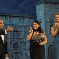 """Foto Nicoloro G.   04/09/2010  Venezia  Quarantottesima edizione del """" Premio Campiello Letteratura """". nella foto Bruno Vespa – Michela Murgia – Andrea Osvart"""