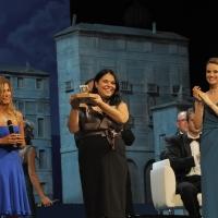 """Foto Nicoloro G.   04/09/2010  Venezia  Quarantottesima edizione del """" Premio Campiello Letteratura """". nella foto  Emma Marcegaglia – Michela Murgia – Andrea Osvart"""