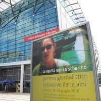 """Foto Nicoloro G. 18/06/2010  Riccione (Rimini)  Sedicesima edizione del """"Premio giornalistico televisivo Ilaria Alpi"""". nella foto Il manifesto dell'evento"""
